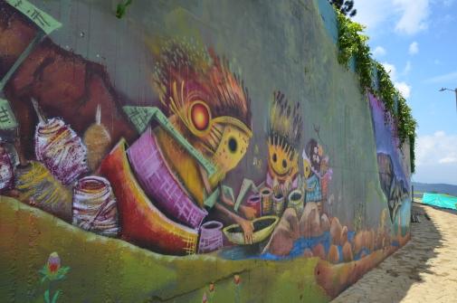 """""""Caminantes del tiempo"""" Obra artística que adorna el Camino de la Vida"""