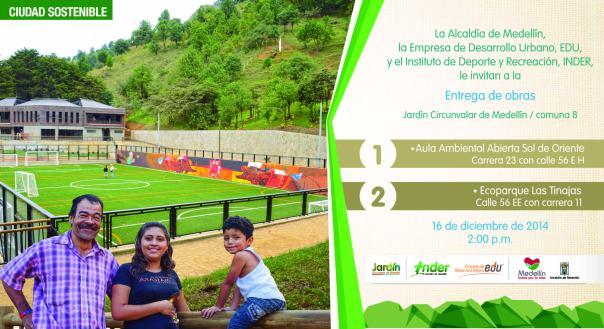 Invitación entrega Ecoparque Las Tinajas