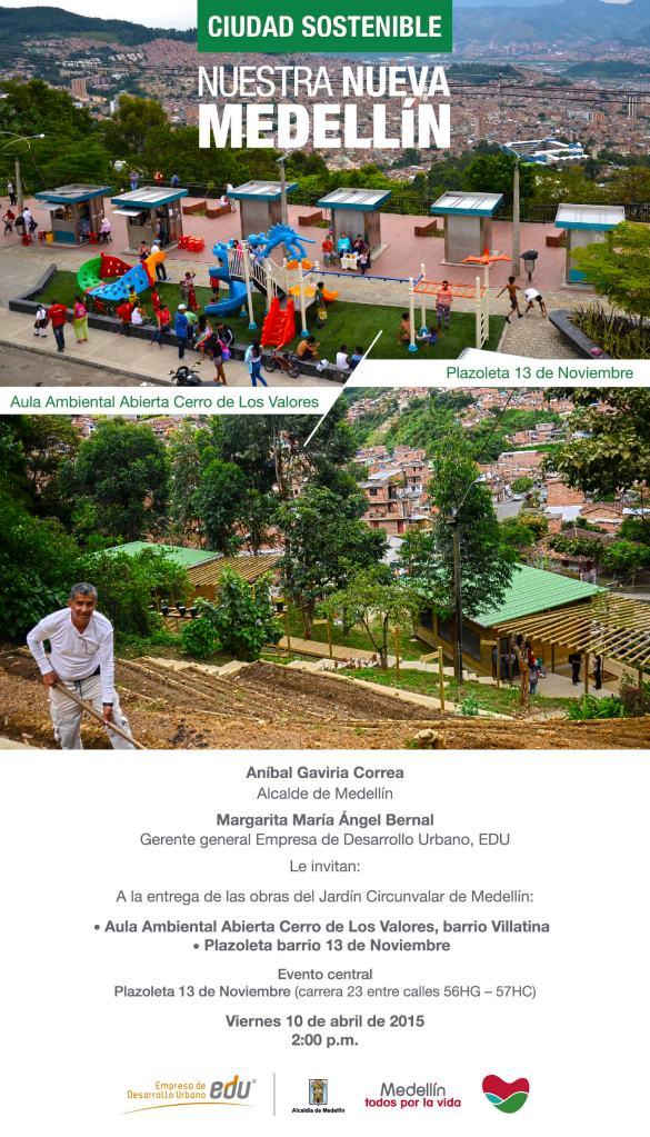 Te invitamos a la entrega de estas obras que hacen parte de la Nueva Medellín