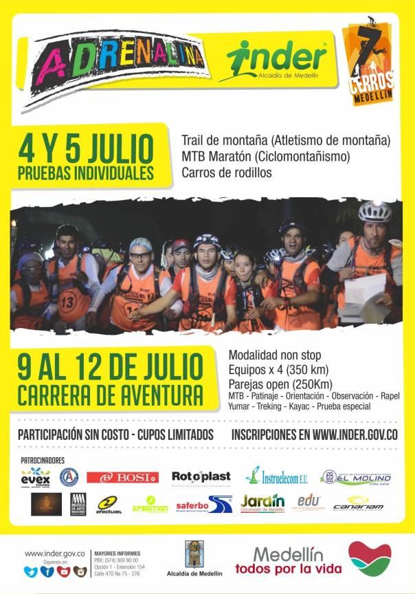 Inscríbete en Adrenalina Siete Cerros