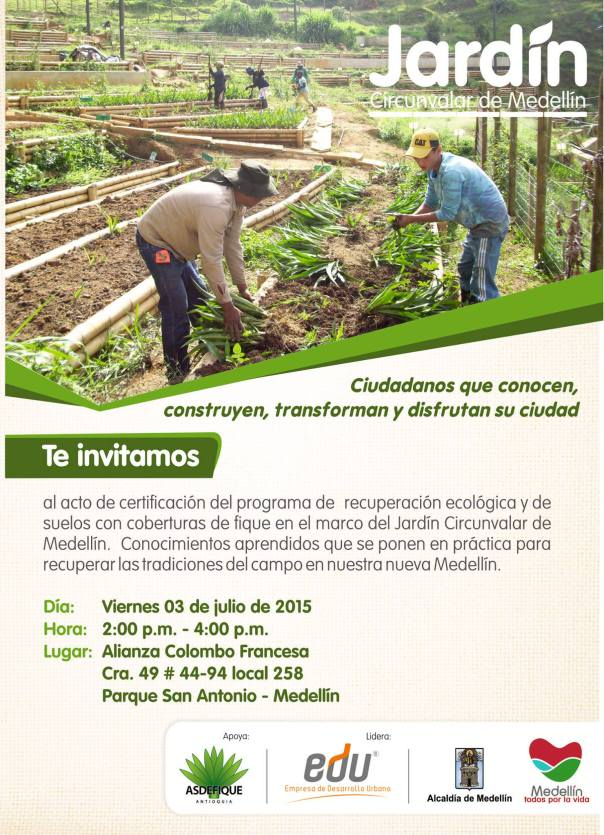 Invitación recuperación de suelos con fique