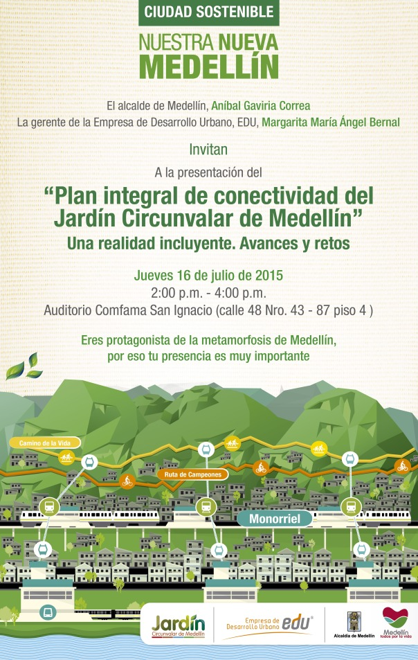 Invitación a la presentación del plan integral de conectividad del JCM