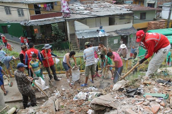 Convite de recuperación y limpieza de punto crítico - barrio Villatina